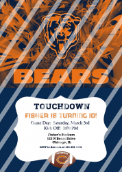 Chicago Bears Personalized Digital Party Invitation #11 (any occasion)