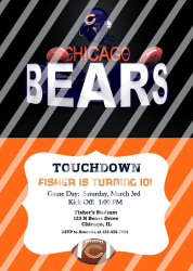Chicago Bears Personalized Digital Party Invitation #12 (any occasion)