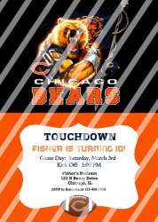Chicago Bears Personalized Digital Party Invitation #13 (any occasion)