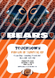 Chicago Bears Personalized Digital Party Invitation #14 (any occasion)