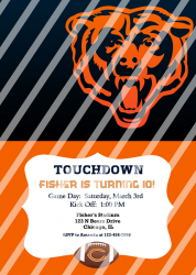 Chicago Bears Personalized Digital Party Invitation #15 (any occasion)