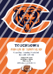 Chicago Bears Personalized Digital Party Invitation #16 (any occasion)