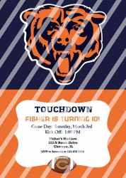 Chicago Bears Personalized Digital Party Invitation #17 (any occasion)