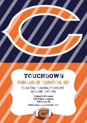 Chicago Bears Personalized Digital Party Invitation #18 (any occasion)