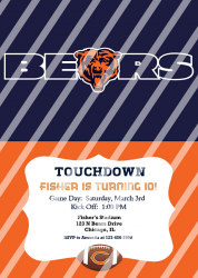 Chicago Bears Personalized Digital Party Invitation #19 (any occasion)