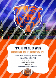Chicago Bears Personalized Digital Party Invitation #60 (any occasion)