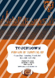 Chicago Bears Personalized Digital Party Invitation #61 (any occasion)