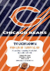 Chicago Bears Personalized Digital Party Invitation #62 (any occasion)
