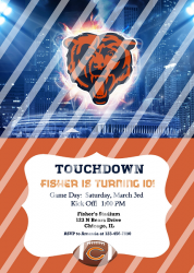Chicago Bears Personalized Digital Party Invitation #63 (any occasion)