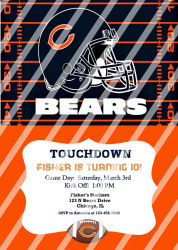 Chicago Bears Personalized Digital Party Invitation #64 (any occasion)