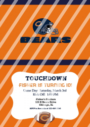 Chicago Bears Personalized Digital Party Invitation #65 (any occasion)