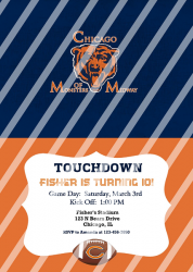 Chicago Bears Personalized Digital Party Invitation #66 (any occasion)