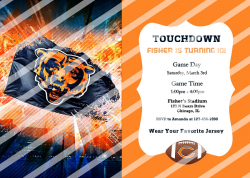 Chicago Bears Personalized Digital Party Invitation #68 (any occasion)