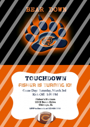 Chicago Bears Personalized Digital Party Invitation #69 (any occasion)