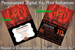 Cincinnati Bengals Digital Party Invitation #2 (Regular or Chalkboard)