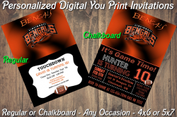 Cincinnati Bengals Digital Party Invitation #5 (Regular or Chalkboard)