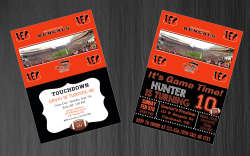 Cincinnati Bengals Digital Party Invitation #7 (Regular or Chalkboard)