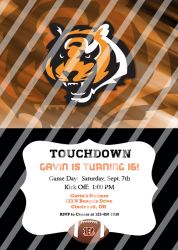 Cincinnati Bengals Personalized Digital Party Invitation #11 (any occasion)