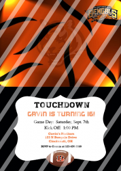 Cincinnati Bengals Personalized Digital Party Invitation #12 (any occasion)