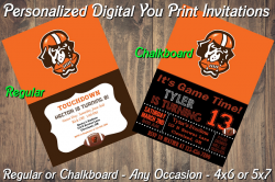 Cleveland Browns Personalized Digital Party Invitation #10 Regular or Chalkboard