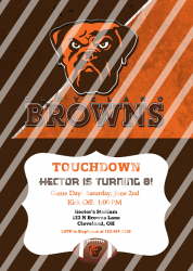 Cleveland Browns Personalized Digital Party Invitation #15 (any occasion)