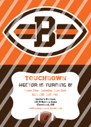 Cleveland Browns Personalized Digital Party Invitation #16 (any occasion)