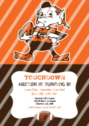 Cleveland Browns Personalized Digital Party Invitation #17 (any occasion)