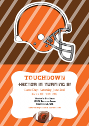 Cleveland Browns Personalized Digital Party Invitation #18 (any occasion)