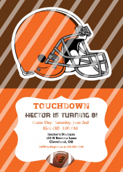 Cleveland Browns Personalized Digital Party Invitation #19 (any occasion)