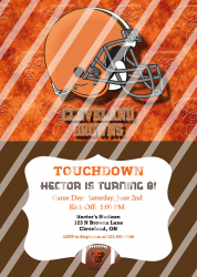 Cleveland Browns Personalized Digital Party Invitation #24 (any occasion)