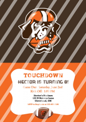 Cleveland Browns Personalized Digital Party Invitation #25 (any occasion)
