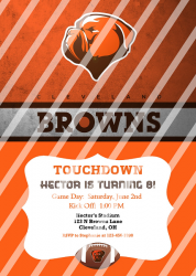 Cleveland Browns Personalized Digital Party Invitation #26 (any occasion)