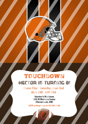 Cleveland Browns Personalized Digital Party Invitation #27 (any occasion)