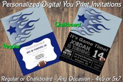 Dallas Cowboys Personalized Digital Party Invitation #10 (Regular or Chalkboard)