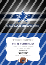 Dallas Cowboys Personalized Digital Party Invitation #11 (any occasion)
