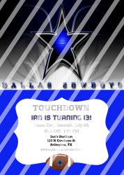 Dallas Cowboys Personalized Digital Party Invitation #12 (any occasion)