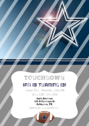 Dallas Cowboys Personalized Digital Party Invitation #13 (any occasion)