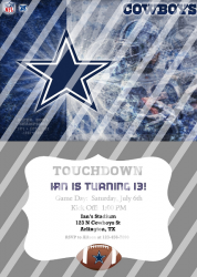 Dallas Cowboys Personalized Digital Party Invitation #14 (any occasion)
