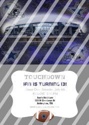 Dallas Cowboys Personalized Digital Party Invitation #15 (any occasion)