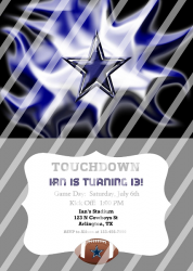 Dallas Cowboys Personalized Digital Party Invitation #16 (any occasion)