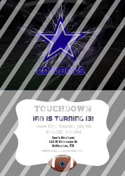 Dallas Cowboys Personalized Digital Party Invitation #17 (any occasion)