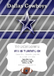 Dallas Cowboys Personalized Digital Party Invitation #18 (any occasion)