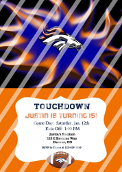 Denver Broncos Personalized Digital Party Invitation #12 (any occasion)