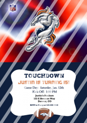 Denver Broncos Personalized Digital Party Invitation #13 (any occasion)