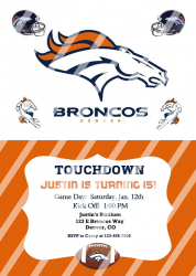 Denver Broncos Personalized Digital Party Invitation #15 (any occasion)