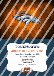 Denver Broncos Personalized Digital Party Invitation #17 (any occasion)