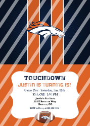 Denver Broncos Personalized Digital Party Invitation #21 (any occasion)