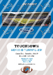 Detroit Lions Personalized Digital Party Invitation #12 (any occasion)