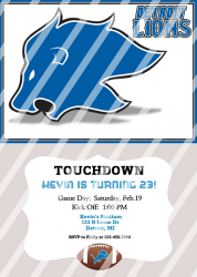 Detroit Lions Personalized Digital Party Invitation #14 (any occasion)