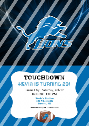 Detroit Lions Personalized Digital Party Invitation #16 (any occasion)